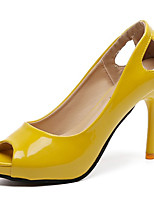 cheap -Women's Shoes PU(Polyurethane) Spring & Summer Basic Pump Heels Stiletto Heel Peep Toe Beige / Yellow / Coffee