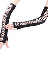 cheap -Dance Accessories Ultra Sexy Women's Performance Nylon / Wool Fabric Fishnet Modern / Glamour Girl Sleeves