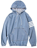 cheap -Men's Street chic Hoodie - Striped