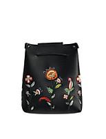 cheap -Women's Bags PU(Polyurethane) Shoulder Bag Embroidery / Zipper Blushing Pink / Gray / Brown