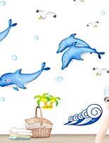abordables -Calcomanías Decorativas de Pared - Calcomanías de Aviones para Pared Animales Baño