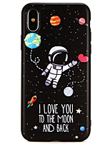 cheap -Case For Apple iPhone X / iPhone 8 Ultra-thin Back Cover Word / Phrase / Cartoon Soft TPU for iPhone X / iPhone 8 Plus / iPhone 8