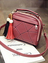 cheap -Women's Bags PU(Polyurethane) Shoulder Bag Zipper / Tassel Blushing Pink / Gray / Purple
