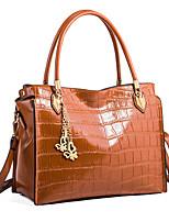 cheap -Women's Bags PU(Polyurethane) Shoulder Bag Zipper Black / Brown / Wine