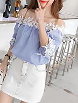 cheap -Women's Basic Shirt - Striped