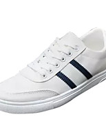 cheap -Men's Canvas Summer Comfort Sneakers Color Block White / Orange / Blue