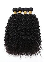 Недорогие -4 Связки Индийские волосы Кудрявый Натуральные волосы Человека ткет Волосы / Удлинитель / Пучок волос 8-28 дюймовый Ткет человеческих волос Машинное плетение