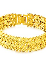 cheap -Men's Thick Chain Chain Bracelet - Leaf Luxury, Vintage, Fashion Bracelet Gold For Daily / Holiday