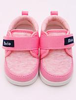 Недорогие -Девочки Обувь Хлопок Весна & осень Обувь для малышей Кеды На липучках для Дети Красный / Синий / Розовый