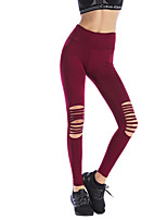 baratos -Mulheres Básico Legging - Sólido Cintura Alta
