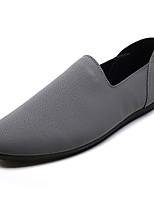Недорогие -Муж. обувь Свиная кожа Лето Удобная обувь / Мокасины Мокасины и Свитер Черный / Серый