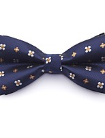 cheap -Men's Party / Basic Cotton / Polyester Bow Tie - Solid Colored / Color Block / Patchwork Blue & White / Daisy, Layered / All Seasons