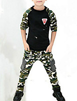 cheap -Kids Boys' Print / Patchwork Long Sleeve Clothing Set