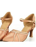 preiswerte -Damen Schuhe für modern Dance Satin Absätze Schlanke High Heel Tanzschuhe Gold / Schwarz / Blau / Leistung / Praxis
