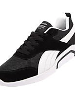 cheap -Men's Canvas / PU(Polyurethane) Fall Comfort Sneakers Color Block Black / Gray / Black / White