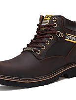 cheap -Men's Combat Boots Nappa Leather Fall Boots Booties / Ankle Boots Black / Brown / Dark Brown