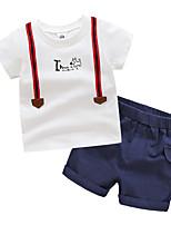 Недорогие -Дети Мальчики С принтом / Пэчворк С короткими рукавами Набор одежды