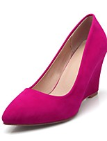 cheap -Women's Shoes PU(Polyurethane) Spring & Summer Basic Pump Heels Wedge Heel Pointed Toe Fuchsia / Green / Almond