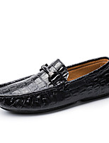 cheap -Men's Shoes Cowhide Spring Moccasin Loafers & Slip-Ons Black / Brown