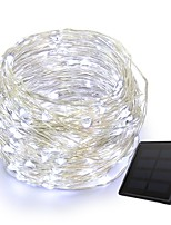 cheap -KWB 10m String Lights 100 LEDs 1Set Mounting Bracket Warm White / White / Blue Solar / Creative / Waterproof Solar Powered 1set
