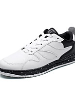 cheap -Men's Shoes PU(Polyurethane) Spring / Fall Comfort Sneakers White / Black / Black / White