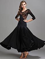 cheap -Ballroom Dance Dresses Women's Performance Chiffon / Lace / Tulle Lace / Split Joint High Dress