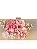 cheap -Women's Bags Cloth / PU(Polyurethane) Evening Bag Pearls / Flower Fuchsia / Wine / Royal Blue