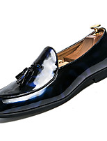 cheap -Men's Shoes PU(Polyurethane) Fall Comfort Loafers & Slip-Ons Black / Blue