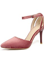 cheap -Women's Shoes PU(Polyurethane) Spring & Summer Ankle Strap Heels Stiletto Heel Pointed Toe Black / Gray / Pink