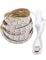 economico -5m Strisce luminose LED flessibili 300 LED 2835 SMD Bianco caldo / Bianco Accorciabile / USB / Decorativo Alimentazione USB 1pc