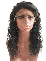 cheap -Remy Human Hair Lace Front Wig Wig Peruvian Hair Curly Layered Haircut 130% Density With Baby Hair / For Black Women Black Women's Short / Long / Mid Length Human Hair Lace Wig