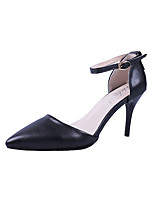cheap -Women's Shoes PU(Polyurethane) Summer Basic Pump Heels Stiletto Heel Pointed Toe Black / Beige / Wedding / Party & Evening