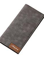 Недорогие -Муж. Мешки PU Бумажники Разрез впереди Черный / Серый / Коричневый