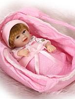 Недорогие -NPKCOLLECTION Куклы реборн Мальчики / Девочки 12 дюймовый Полный силикон для тела / Винил - как живой, Искусственная имплантация Коричневые глаза Детские Универсальные Подарок