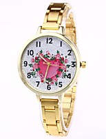 cheap -Women's Dress Watch / Wrist Watch Chinese Creative / Casual Watch / Adorable Alloy Band Flower / Heart shape Silver / Gold / Rose Gold / Large Dial / One Year