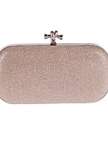 cheap -Women's Bags Polyester Evening Bag Buttons / Crystals Black / Red / Silver