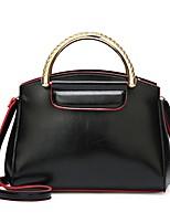 cheap -Women's Bags PU(Polyurethane) Shoulder Bag Zipper Black / Blushing Pink / Yellow