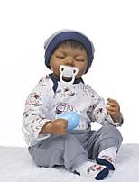 Недорогие -NPKCOLLECTION Куклы реборн Мальчики 24 дюймовый Силикон - как живой Детские Мальчики Подарок