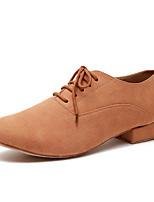 preiswerte -Herrn Schuhe für modern Dance Mikrofaser Sneaker Spitze Starke Ferse Tanzschuhe Armeegrün / Kamel