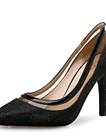 cheap -Women's Shoes PU(Polyurethane) Spring & Summer Basic Pump Heels Stiletto Heel Pointed Toe Black / Champagne / Wedding / Party & Evening