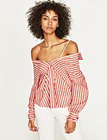 economico -Camicia Per donna Collage, A strisce