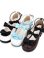 economico -Dolce / Lolita Classica e Tradizionale Principessa Quadrato Scarpe Ricami in pizzo 4.5 cm CM Nero / Marrone / Blu Per PU