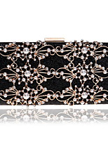 cheap -Women's Bags Polyester / Alloy Evening Bag Crystals / Pearls Gold / Black / Silver