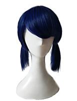 abordables -Pelucas sintéticas Rizado Corte a capas Pelo sintético Fiesta Azul Peluca Mujer Larga Sin Tapa