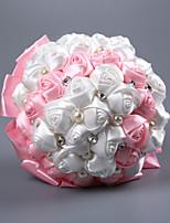 abordables -Fleurs de mariage Bouquets Mariage / Fête de Mariage Perle / Mousse / Satin 11-20 cm