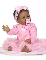 economico -NPKCOLLECTION Bambole Reborn Bambine 24 pollice Silicone - Occhi marroni di impianto artificiale Per bambino Da ragazza Regalo