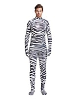 cheap -Patterned Zentai Suits / Cosplay Costume Zentai Cosplay Costumes Black Zebra Spandex Lycra / Elastic Unisex Halloween / Carnival / Masquerade