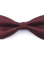 cheap -Men's Basic Cotton / Polyester Bow Tie - Solid Colored / Striped / Print Layered / All Seasons