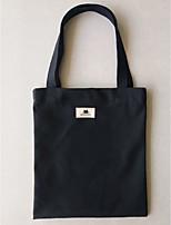 cheap -Women's Bags Canvas Shoulder Bag Zipper White / Black