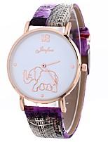 baratos -Xu™ Mulheres Relógio Elegante / Relógio de Pulso Chinês Criativo / Relógio Casual / Mostrador Grande PU Banda Casual / Fashion Preta / Branco / Azul